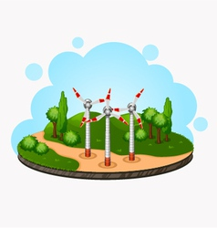 ecology concept wind driven generators on the vector image