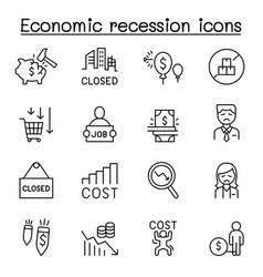 Economic recession business crisis trade war icon vector