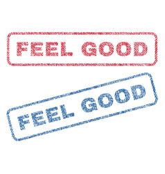 Feel good textile stamps vector