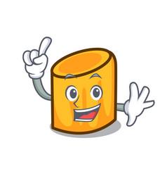 finger rigatoni mascot cartoon style vector image