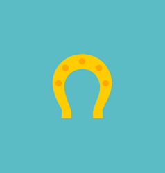 Flat icon horseshoe element vector