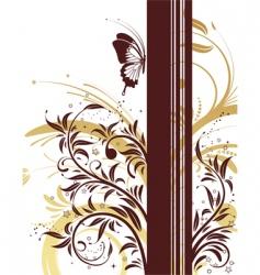 Flower frame background vector