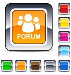 Forum square button vector
