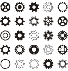 Gear wheel icons vector image