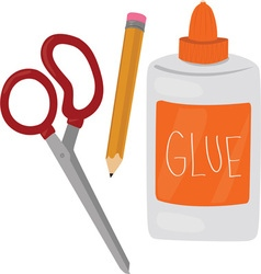 Glue Scissors vector
