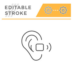 hearing aid line icon vector image