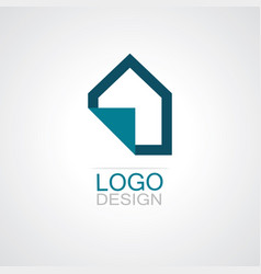 home paper icon logo vector image