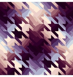 Houndstooth in purple color vector