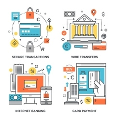 Internet Banking Concepts vector