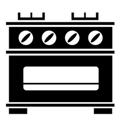 kitchen stove icon simple style vector image