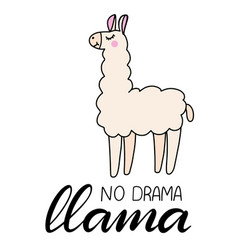 Llama lettering vector