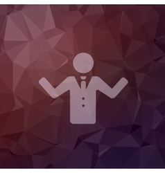Man raising hand in flat style icon vector