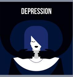 Mental disorder depression vector