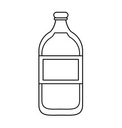 Mineral water bottle fresh thin line vector