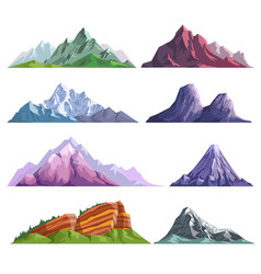 mountain rocks or alpine mount hills nature flat vector image