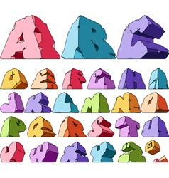 Multicolored alphabet vector