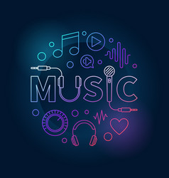 music colored made with word vector image