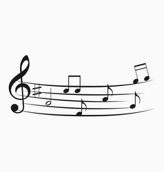 Music note icon melody icons set vector