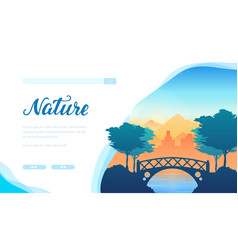 Nature landing page template vector