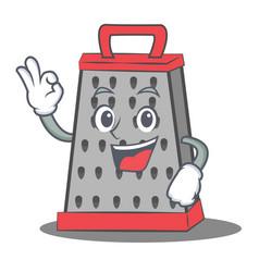 Okay kitchen grater character cartoon vector