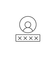 password icon vector image