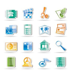 Phone and computer icons vector