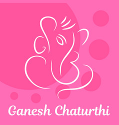 Pink ganesh chaturthi background flat style vector