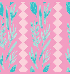 Pink watercolor flowers on fuchsia background vector