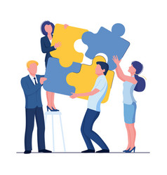 puzzle team concept business person teamwork vector image
