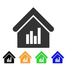 realty bar chart icon vector image