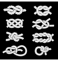 Rope Knots Icons vector