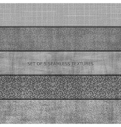 Set of five seamless relief textures vector