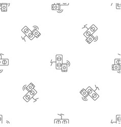 smart control electricity pattern seamless vector image