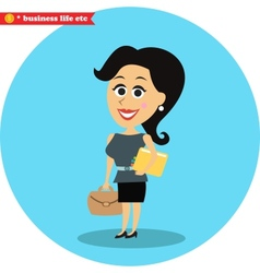 Smart office girl vector