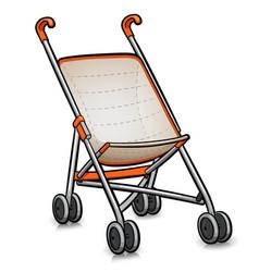Stroller cartoon isolated design vector