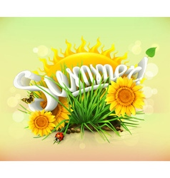 summer time for a vacation and travel sun and vector image