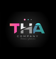 tha t h a three letter logo icon design vector image