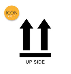 This side up packaging symbol icon isolated flat vector