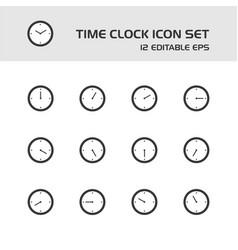 Time clock icon set vector
