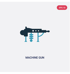 Two color machine gun icon from weapons concept vector