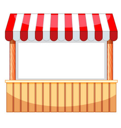 Vendor design at funfair with wooden bar vector