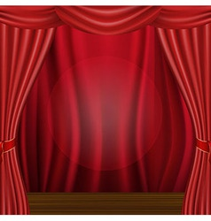 Wood Scene And Curtain vector image