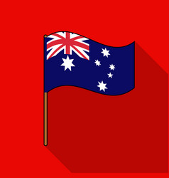australian flag icon in flat style isolated on vector image vector image