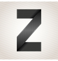 Letter metal ribbon - Z vector image