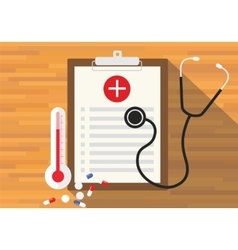 medical record health in clipboard vector image vector image