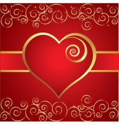 vintage heart background vector image vector image