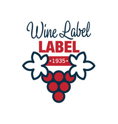 wine label 1935 natural top quality product red vector image vector image
