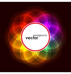 Abstract Bubble Glow Frame vector image