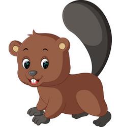 Cartoon beaver vector