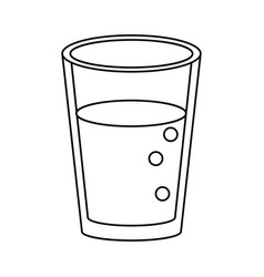glass cup juice nature thin line vector image vector image